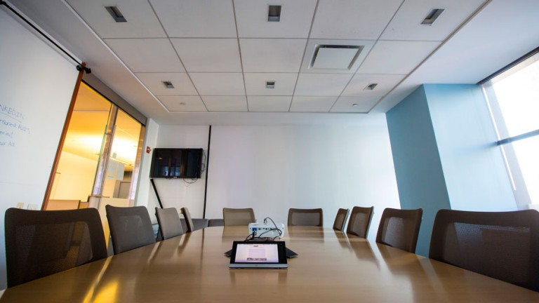A conference room in the offices of Thomson Reuters in New York, December 13, 2013